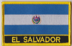 El Salvador Embroidered Flag Patch, style 09.